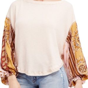 Free People Blossom Thermal Rose Balloon Top